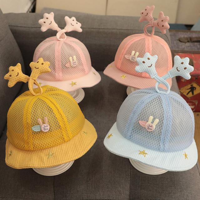 (預購)嬰兒帽子縷空夏季渔夫帽防曬幼兒可調節