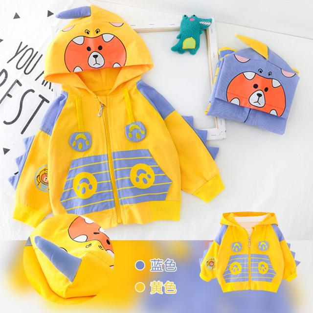 小熊恐龍連帽外套
