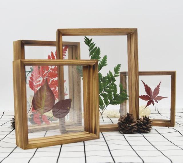 北歐木質玻璃木框相框標本框