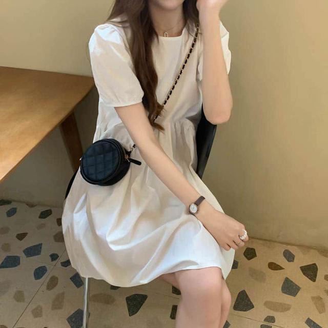 【預購】甜美風泡泡袖洋裝