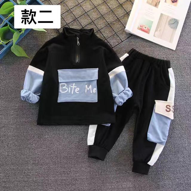 男童秋裝套裝2020新款寶寶時尚運動兩件套中小兒童帥氣衣