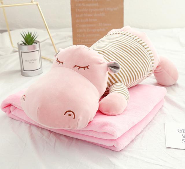 河馬抱枕+空調毯