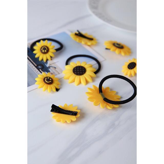 190826059批發頭飾 向日葵发圈花朵可爱饰品笑脸
