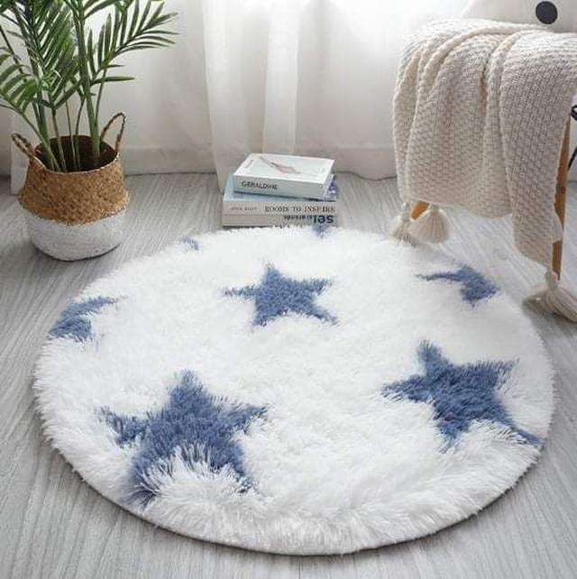 (預購S) G819 - 北歐風長絨毛圓形地毯