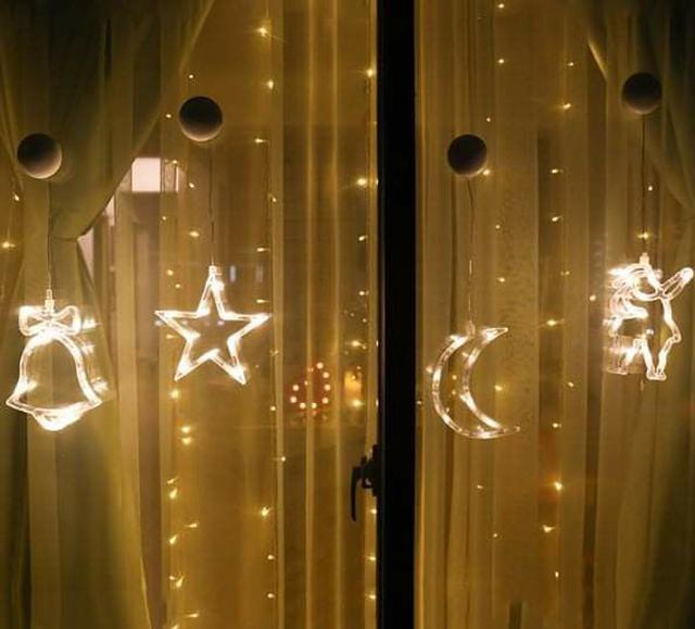 (預購S) G563 - 聖誕節慶玻璃吸盤LED吊掛燈