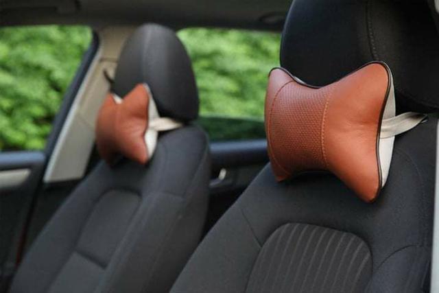 (預購S) G450 - 車用皮革透氣護頸枕(一組兩顆)