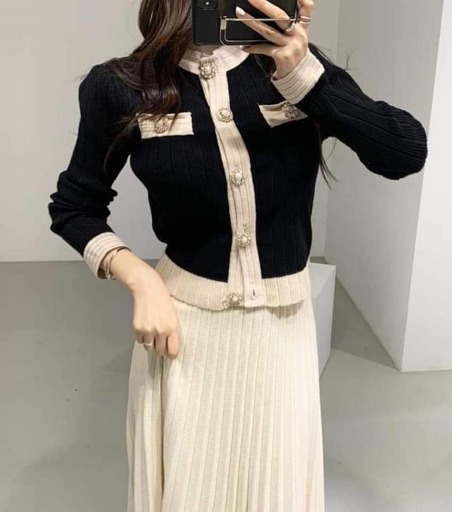 【預購🇰🇷韓國】小香風名媛撞色套裝
