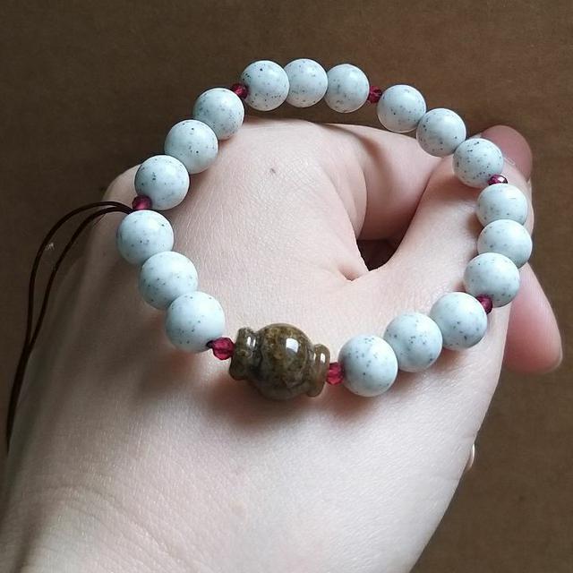 手作養顏美容北投石造型手珠