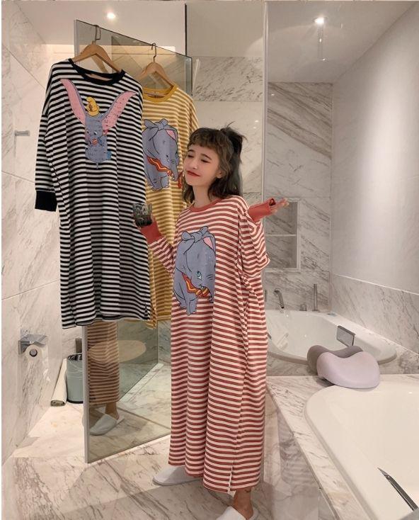 預購商品11/28結單  小飛象條紋舒適寬鬆居家裙