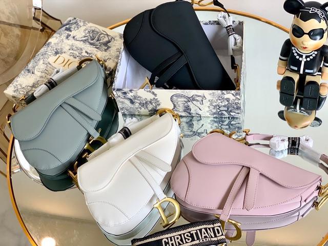 磨砂 配禮盒 DIOR馬鞍包 1新款不規則形狀純色【Dior·迪奧】馬鞍包