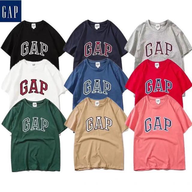 夏季新款GAP印花經典短袖T恤小紅書網紅同款男女情侶休閒運動寬松