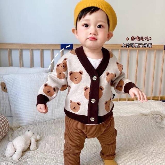 🔹秋裝可愛小熊寶寶針織外套 童裝
