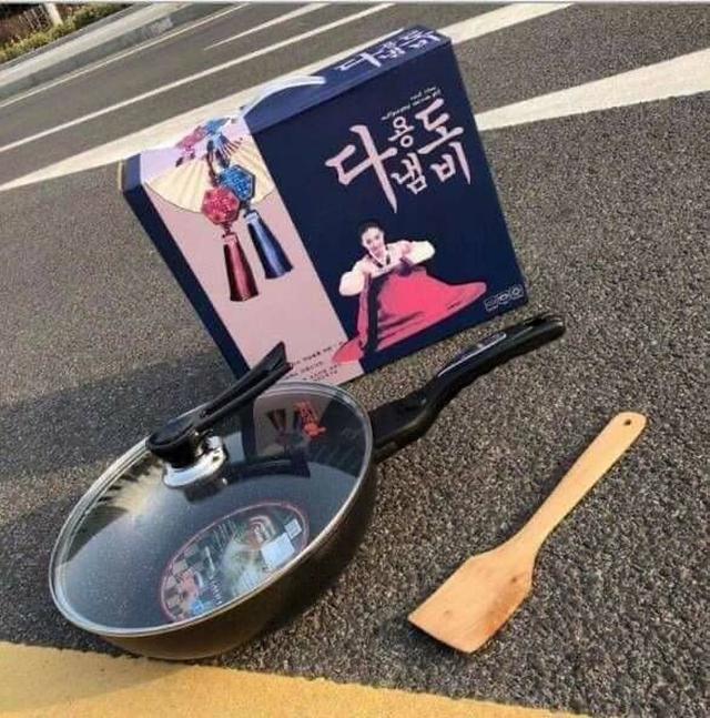 麥飯石炒菜鍋32cm(三件組禮盒)