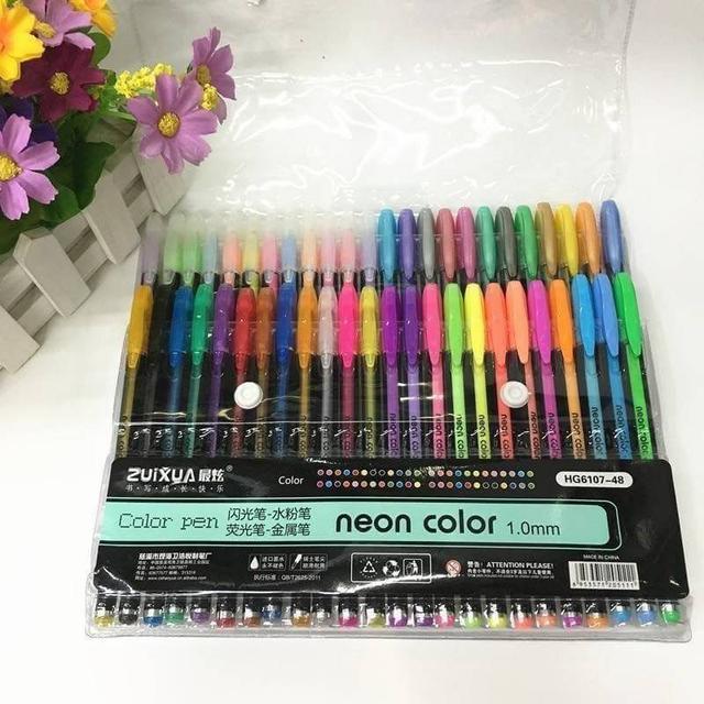 最炫彩色中性筆48色套裝