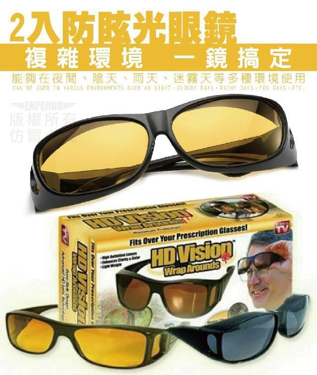 2入防眩光眼鏡