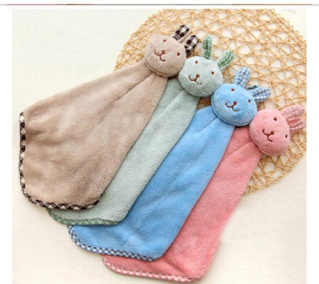 珊瑚絨兔兔吸水擦手巾🐰
