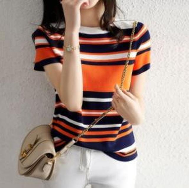 F60586 寬鬆撞色針織衫(單色)