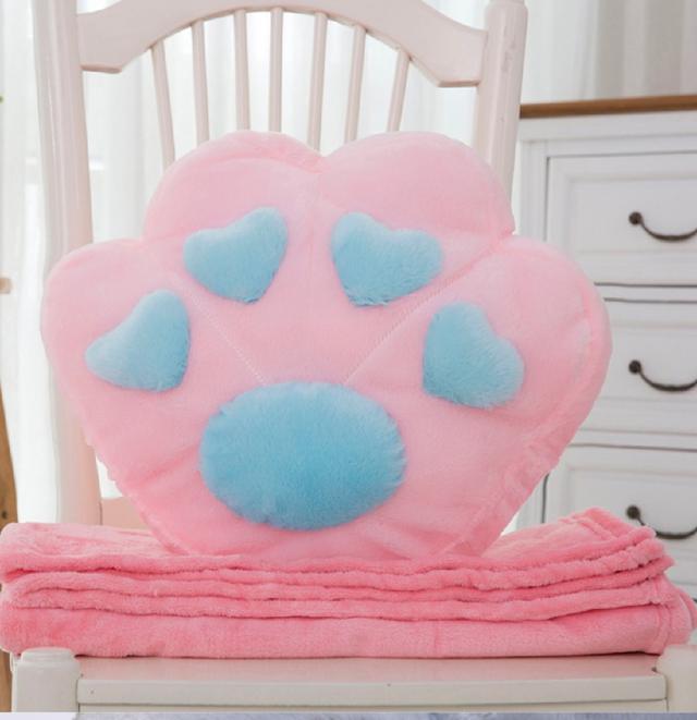 貓爪抱枕+空調毯