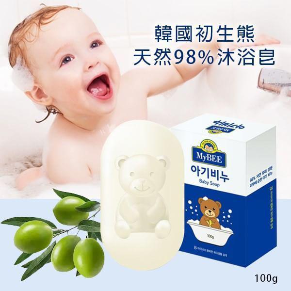 韓國 初生熊天然98%沐浴皂 100g/2顆入