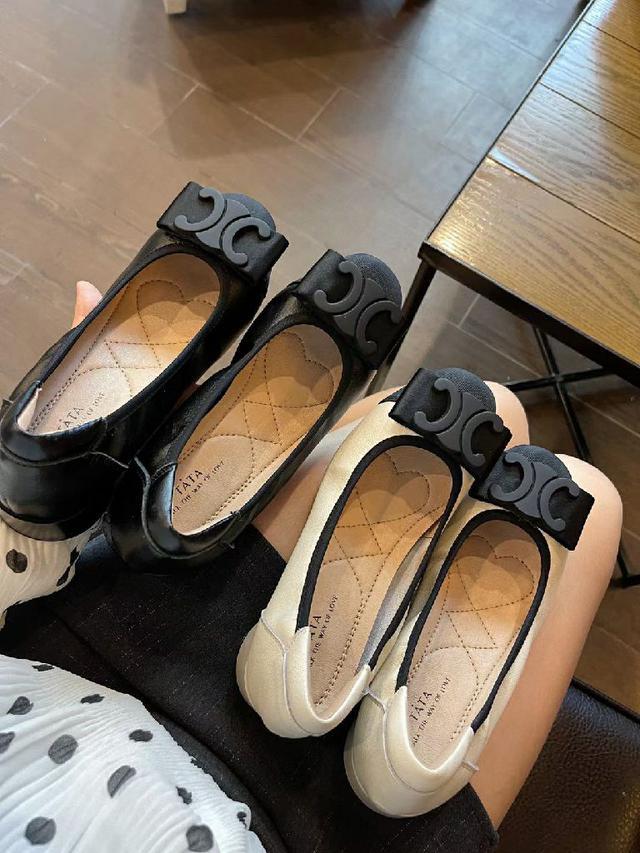 TaTa淺口蝴蝶結單鞋