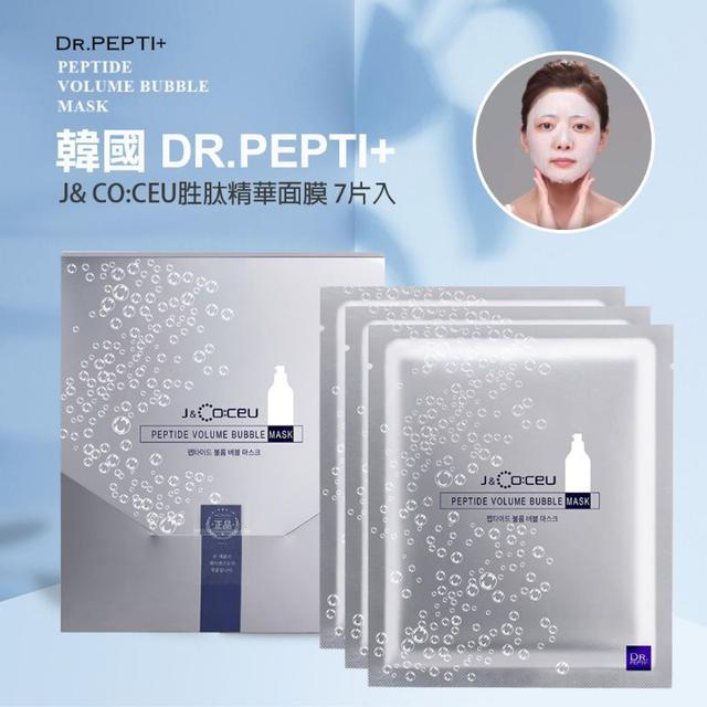 DR.PEPTI+ J& CO:CEU泡泡彈力胜肽精華面膜7片入