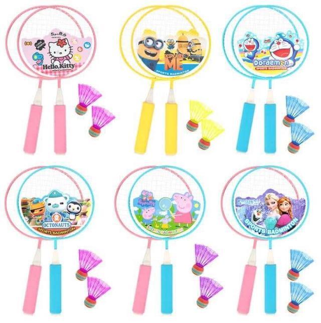 兒童卡通羽毛球拍組