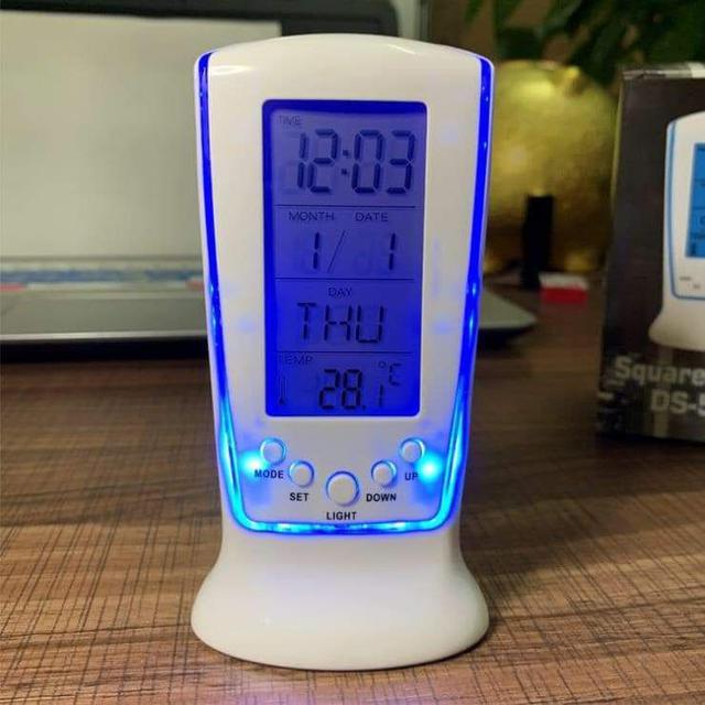 (預購S) 多功能靜音LED夜光萬年曆電子時鐘鬧鐘
