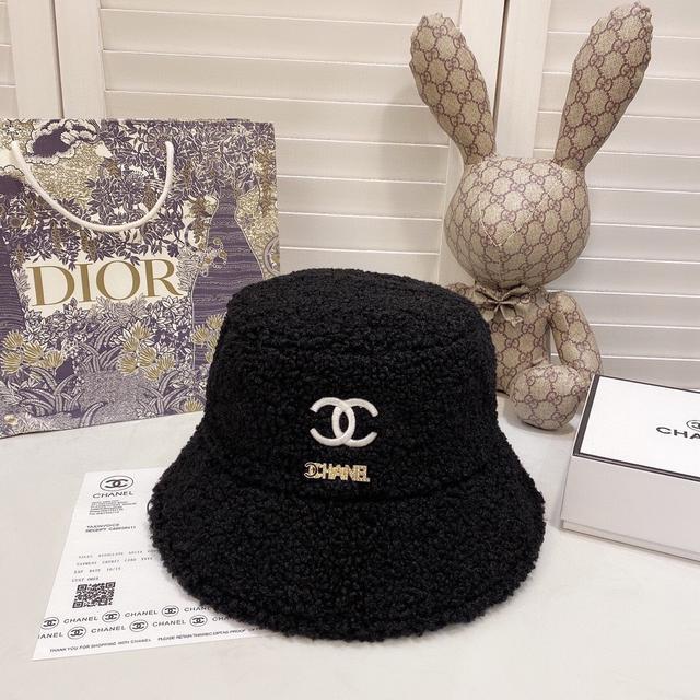 【CHANEL香奈兒】2020新款帽子羊羔毛款漁夫帽,火爆款,細節做工精緻,很好搭配
