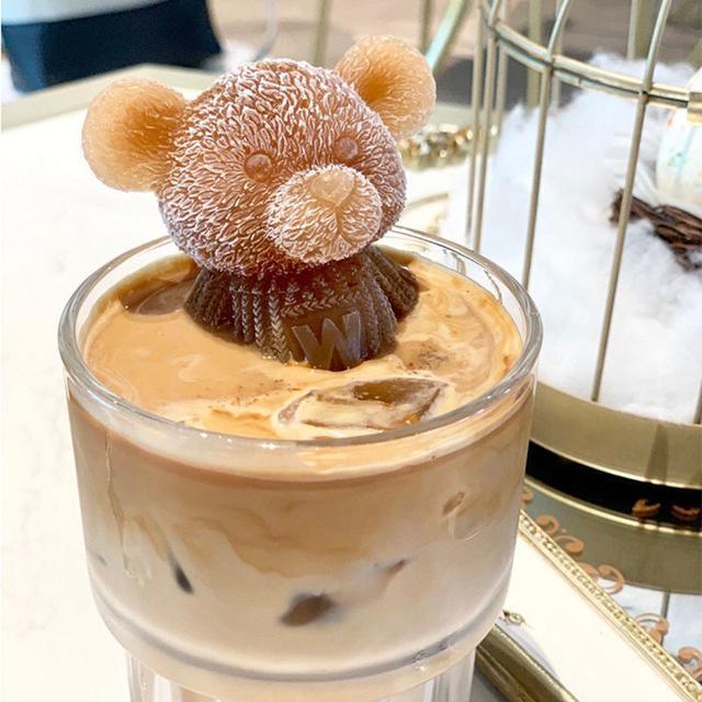 小熊冰塊模具道具圓形玫瑰冰模硅膠網紅冰球家用自制冰糕冰格神器(中號玫瑰)