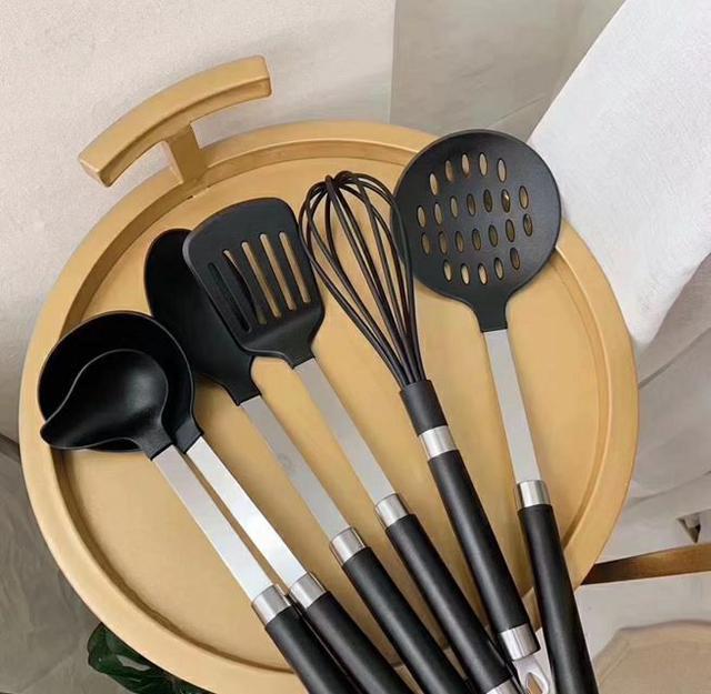 廚具矽膠鍋鏟六件組(含彩盒)