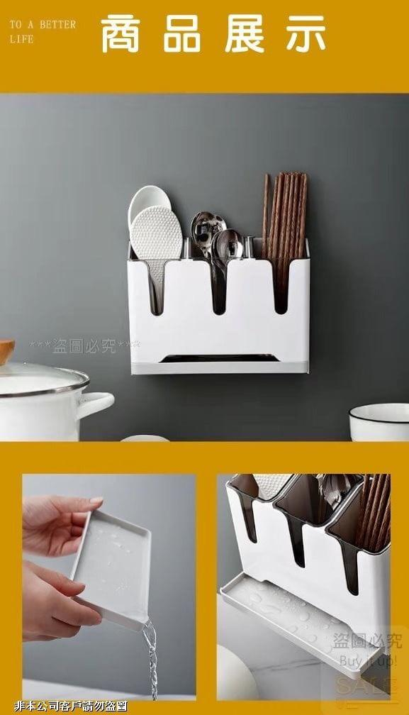ABS高品質壁掛湯匙筷子瀝水架