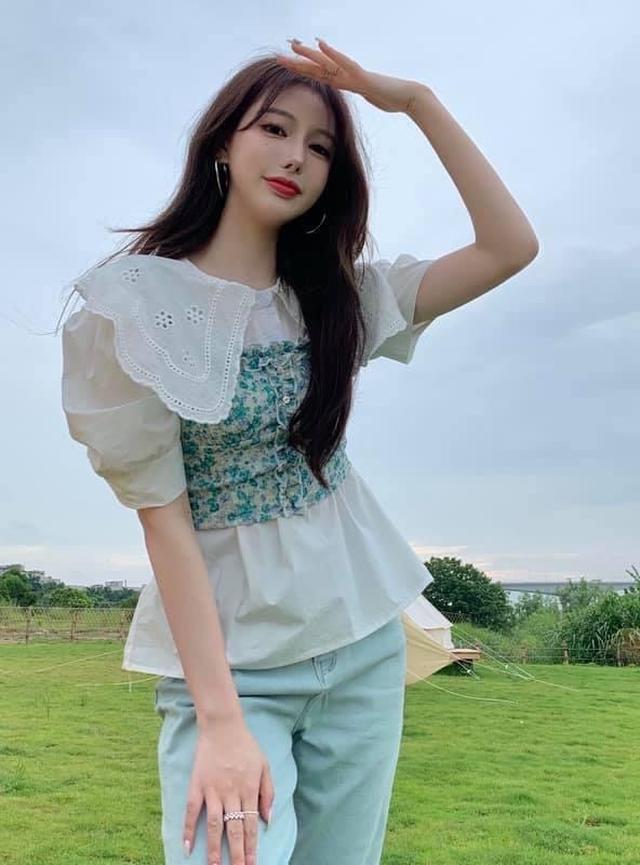 韓版襯衫+碎花吊帶背心
