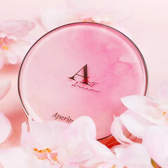 韓國 Aperire 大理石雲母氣墊粉餅~積雪草 拍出自然光澤嫩肌 玫瑰金