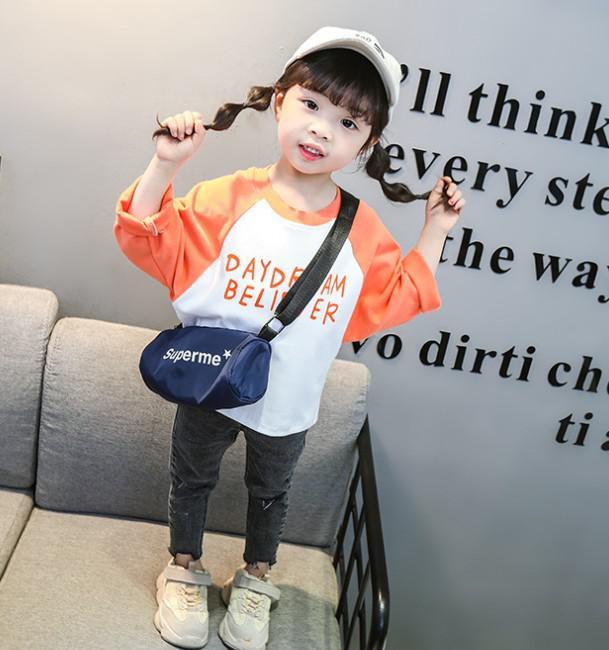 11 90-130 小童裝 拼色字母衛衣(2色) 47191