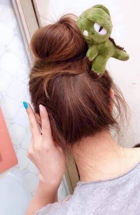 韓版可愛立體恐龍髮圈