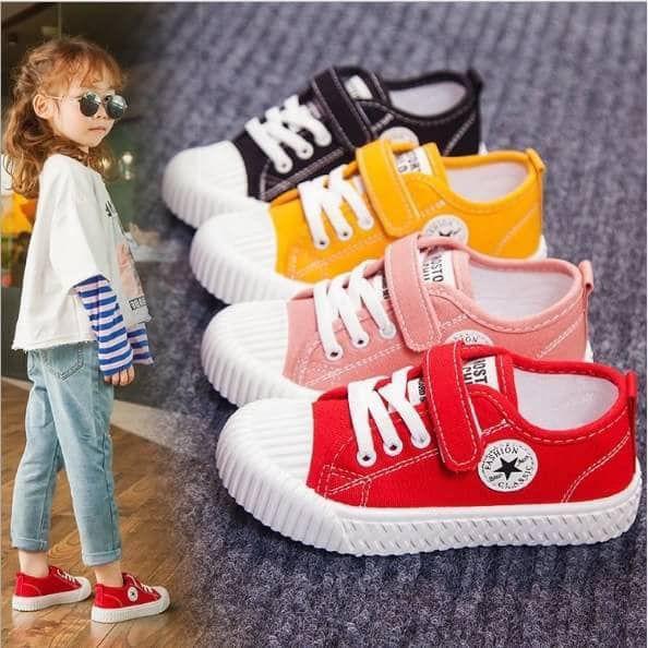 兒童透氣軟底帆布潮鞋