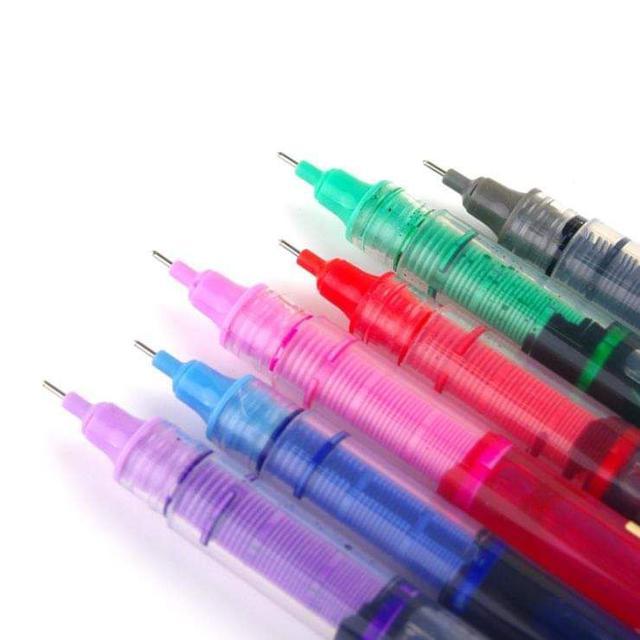 (預購S) 復古5色自動控墨速乾鋼珠筆