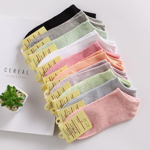 馬卡龍糖果色外銷日本純棉女襪