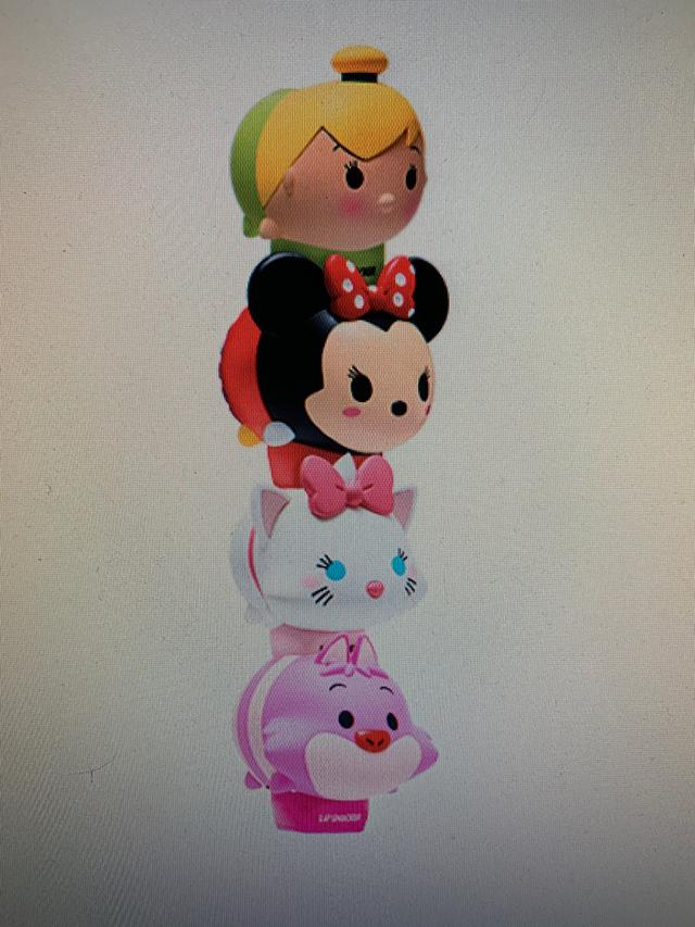 《美國預購》Tsum Tsum 迪士尼造型護唇膏4個一組
