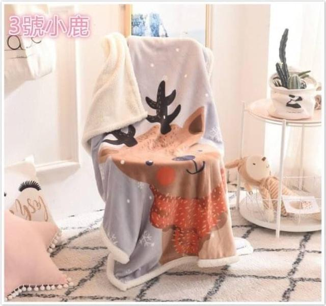 外貿出口雙層法蘭絨兒童毛毯
