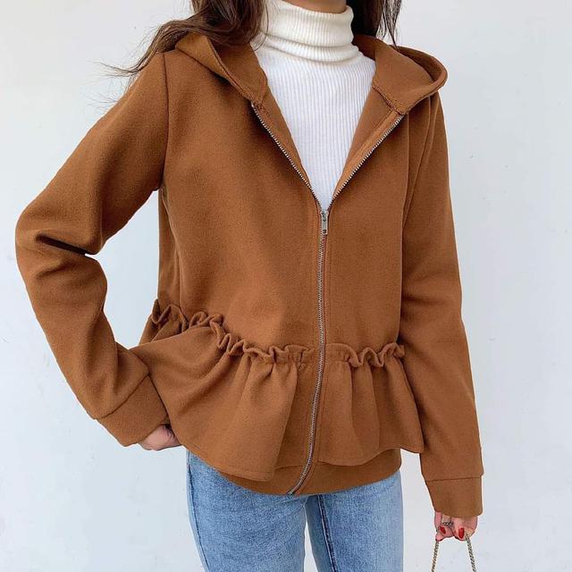 【預購】荷葉造型休閒外套