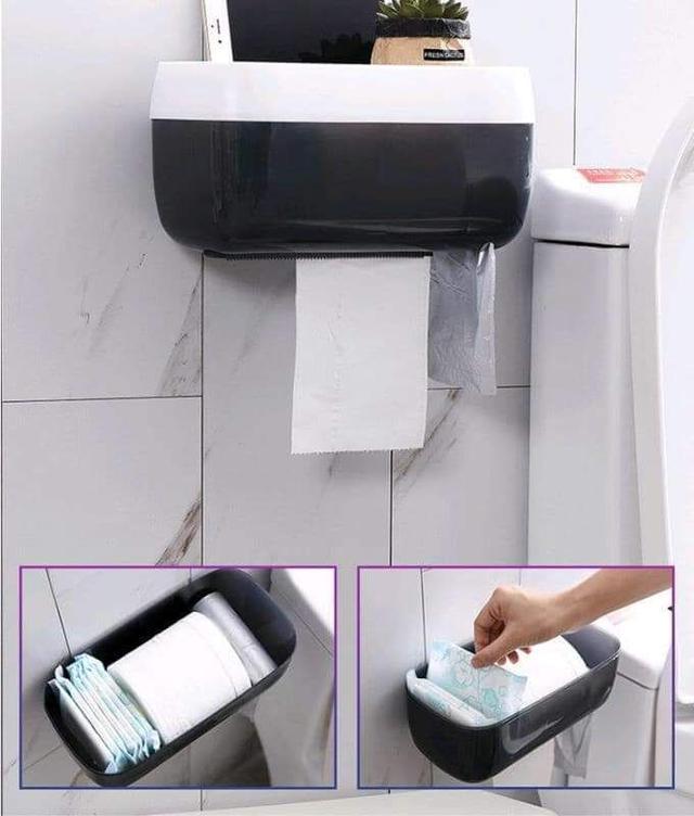 現貨黑1(預購S)加大版多功能置物防水紙巾垃圾袋架