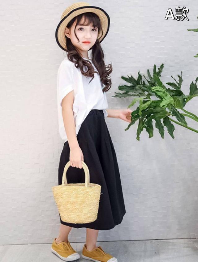 『預購』韓版個性闊腿褲套裝(中大童)