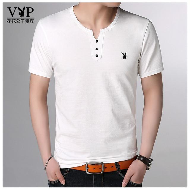 06 M-3XL 優質冰絲提花純棉短袖T恤(2色)