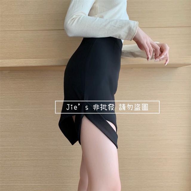 預購-韓版韓版 高腰顯瘦不規則A字裙