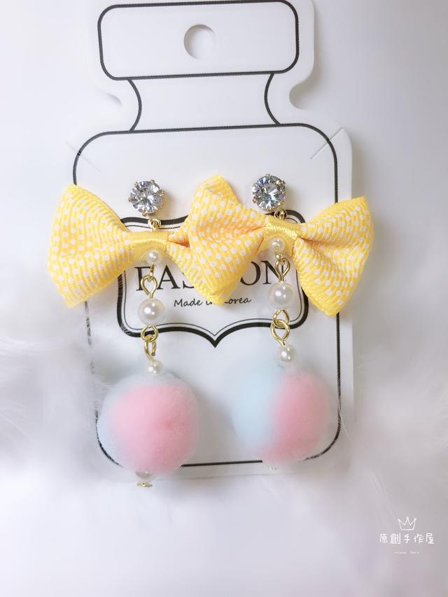 可愛蝴蝶結造型耳環