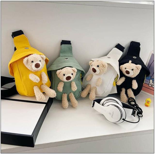 (預購S) P146 - 兒童可愛立體小熊腰包