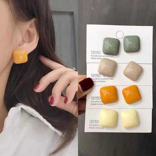 I廠-925純銀-糖果耳環-可選色