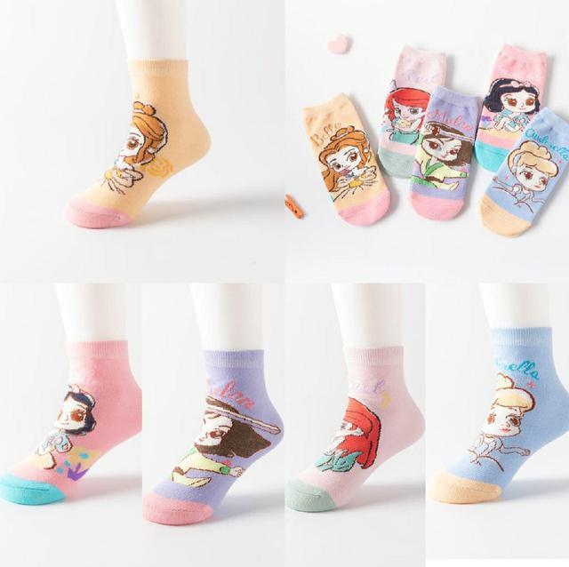 [ 兒童卡通透氣短襪(一組5雙)