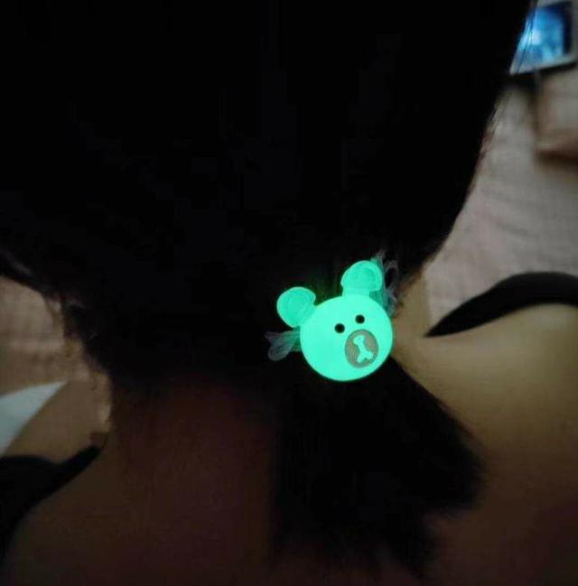 (預購S) H034 - 夜光可愛動物會發光髮繩(一組10條)